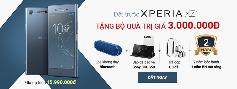 Đặt trước Sony Xperia XZ1 - Rước quà 3 triệu