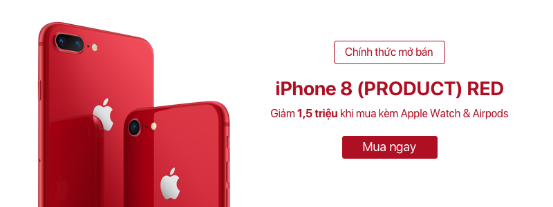 MỞ BÁN IPHONE 8/8PLUS RED