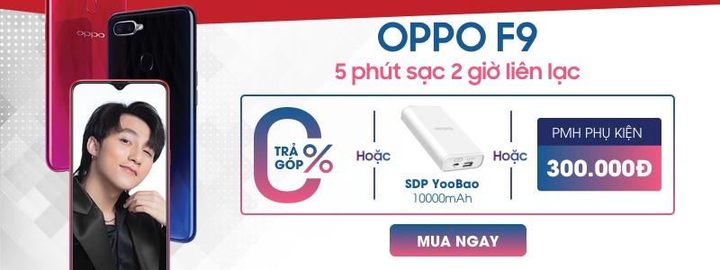 Hình ảnh Oppo F9 - Trả góp 0% + sạc + PMH 300.000