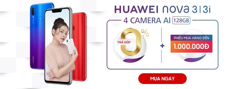 Hình ảnh Huawei nova 3/3i - Tặng phiếu mua hàng 1 triệu