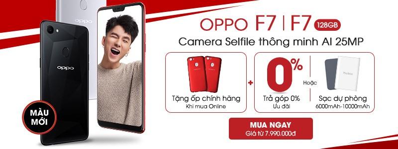 OPPO F7/F7 128GB tặng ốp lưng chính hãng