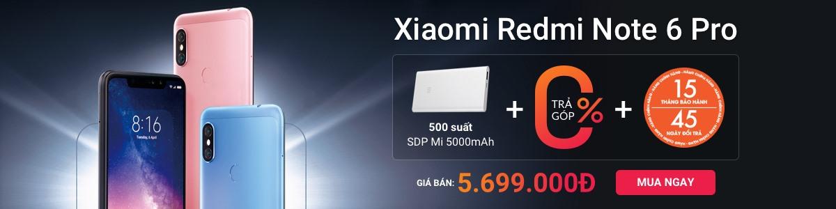 Xiaomi Redmi Note 6 Pro Khuyến mãi