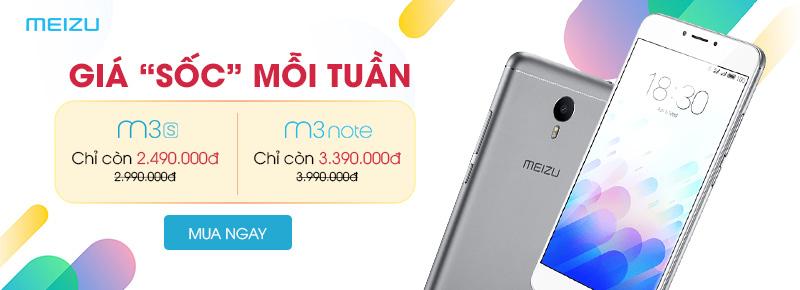 Meizu - giá sốc mỗi tuần
