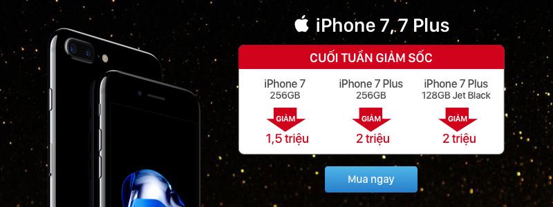Thông báo CT Flash sales iPhone 7/7 Plus 256GB