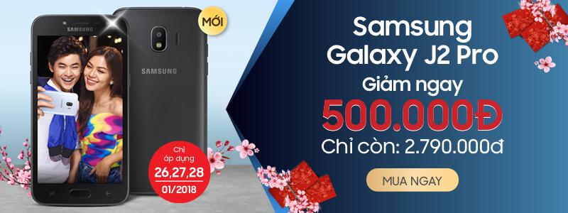 Mua Samsung Galaxy J2 Pro 2018 - Giảm ngay 500.000đ chỉ còn 2.790.000đ