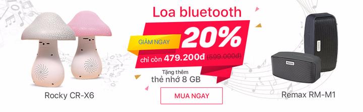 Loa bluetooth khuyến mãi tháng 7