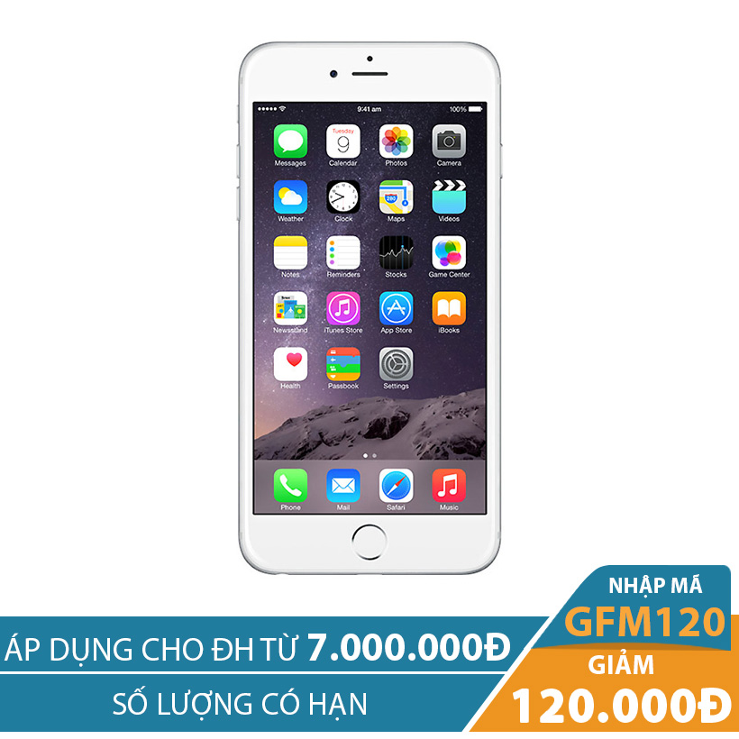 Giảm ngay 120K khi mua Apple iPhone 6 Plus 16GB Bạc (Certified Pre-Owned)