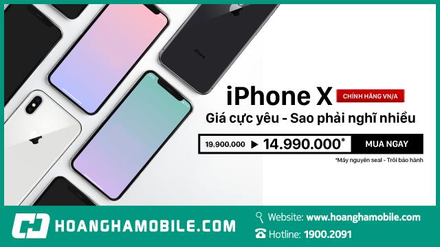iPhone X trôi bảo hành - Giá  chỉ 14,990,000đ