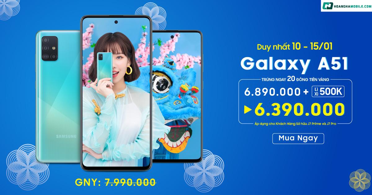 Galaxy A51 Sập Giá Chỉ Còn Hơn 6 Triệu Đồng