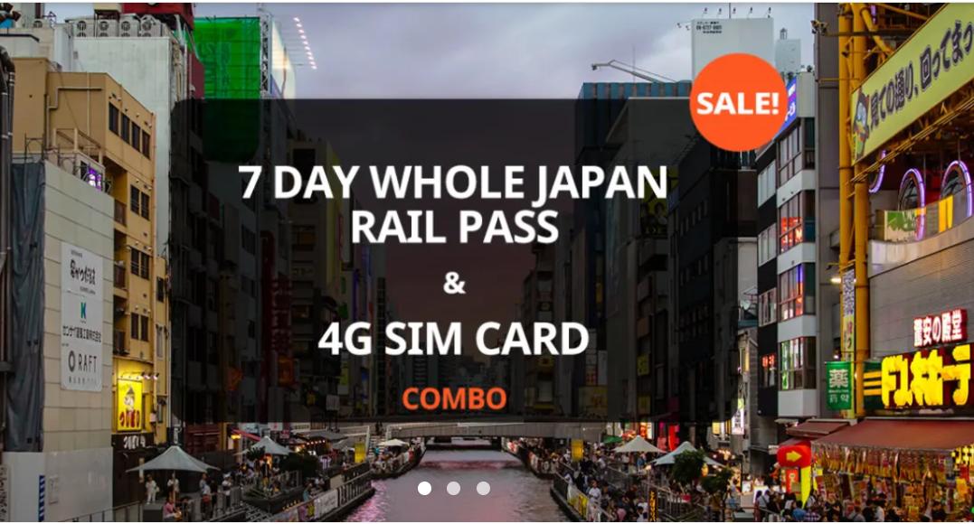 Vé JR Pass Toàn Nhật Bản 7 Ngày Và SIM 4G Nhật Bản