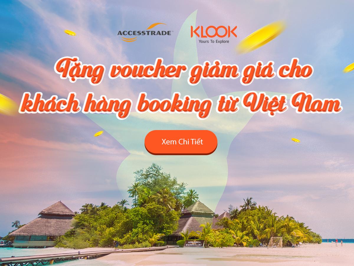 Tặng mã giảm giá cho Khách hàng có booking đặt từ Việt Nam