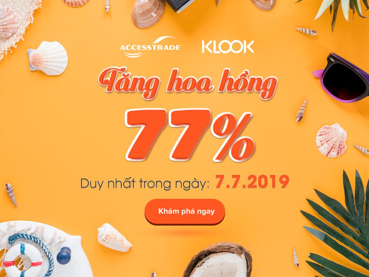 klook.com - Klook t?ng hoa h?ng 77% duy nh?t cho ngày 7.7.2019