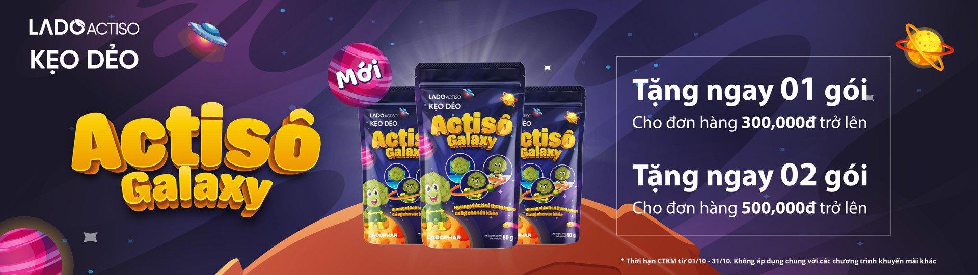 Tặng kẹo dẻo Actiso trị giá 29k cho đơn hàng từ 300k trở lên