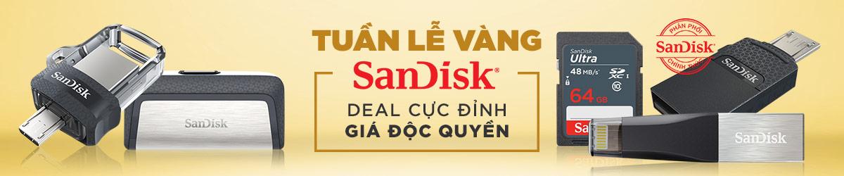 Mã giảm giá Lazada- Tuần lễ vàng Sandisk - Giảm 20%