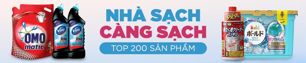 Top 200 sản phẩm nhà cửa đời sống bán chạy trên Lazada