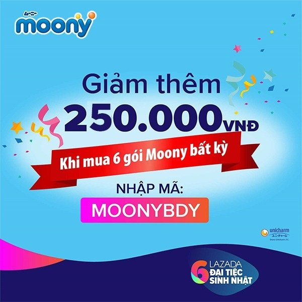 Moony - Giảm thêm 250K khi mua 6 gói bất kì