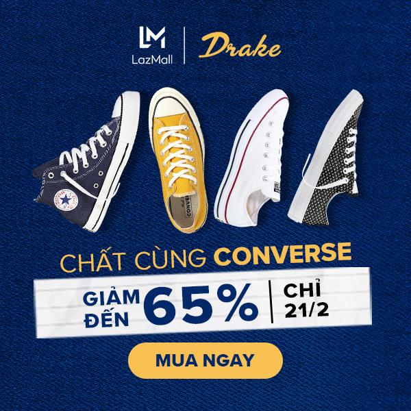 Converse: Giảm đến 65% + quà tặng cực hấp dẫn