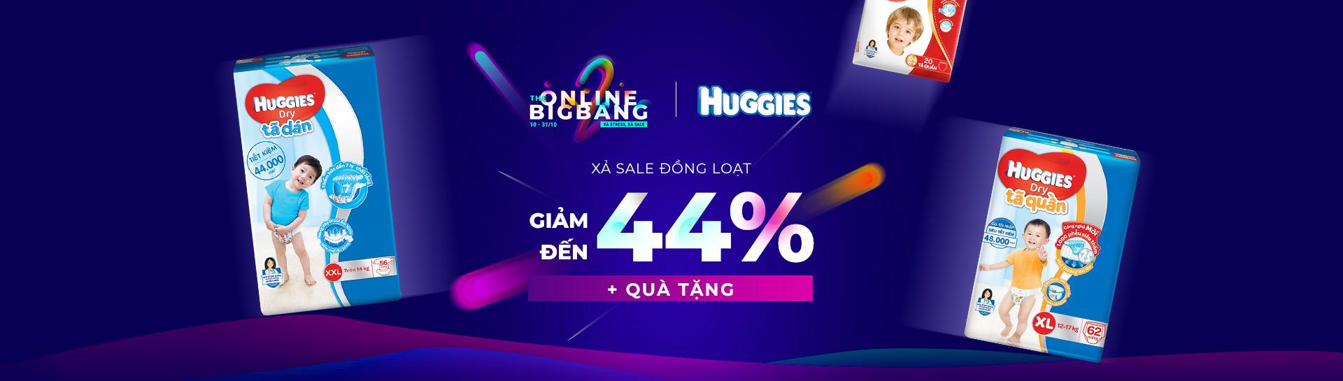 Huggies - giảm đến 44%