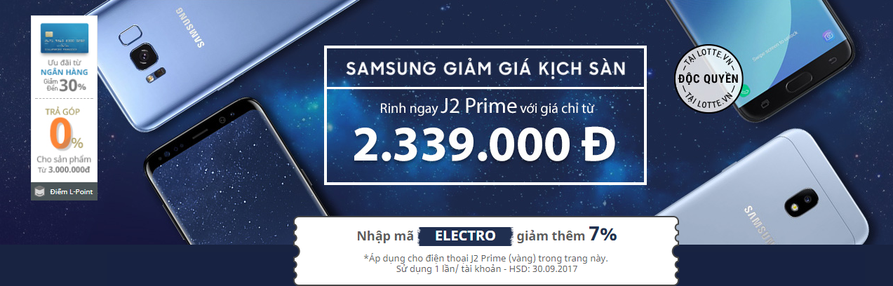 Samsung giảm giá kịch sàn