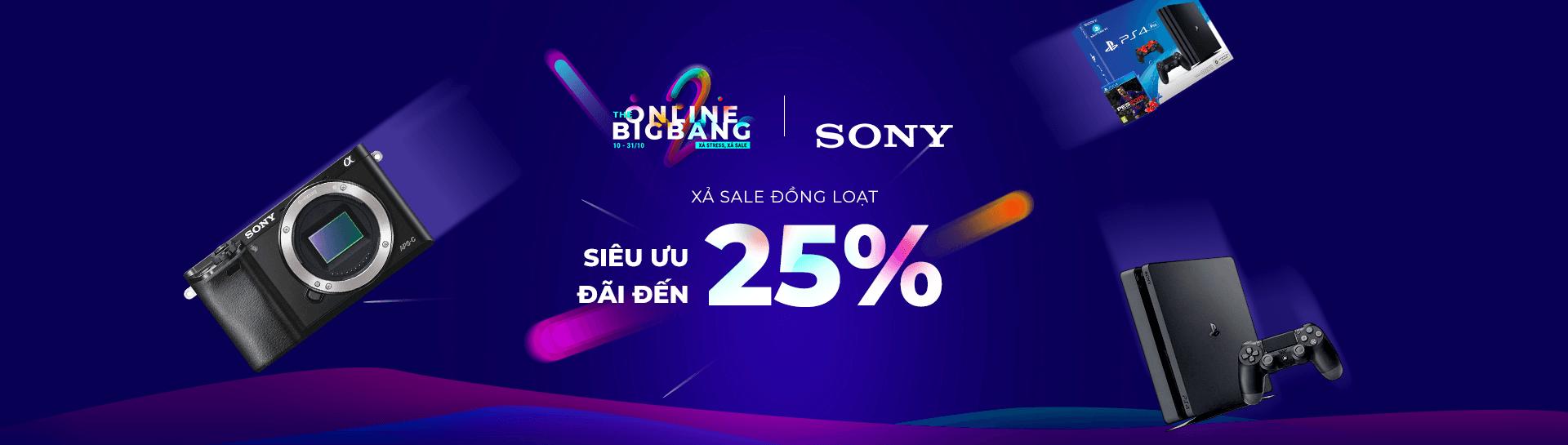 Sony - Siêu ưu đãi đến 45% - Cam Kết Giá Tốt