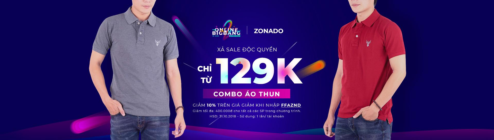 Hình ảnh Zonado - Thời trang nam chỉ từ 99K