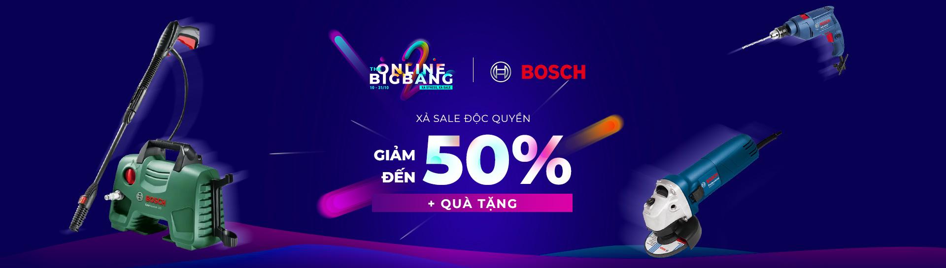 Bosch - Giảm giá đến 40% + Quà tặng