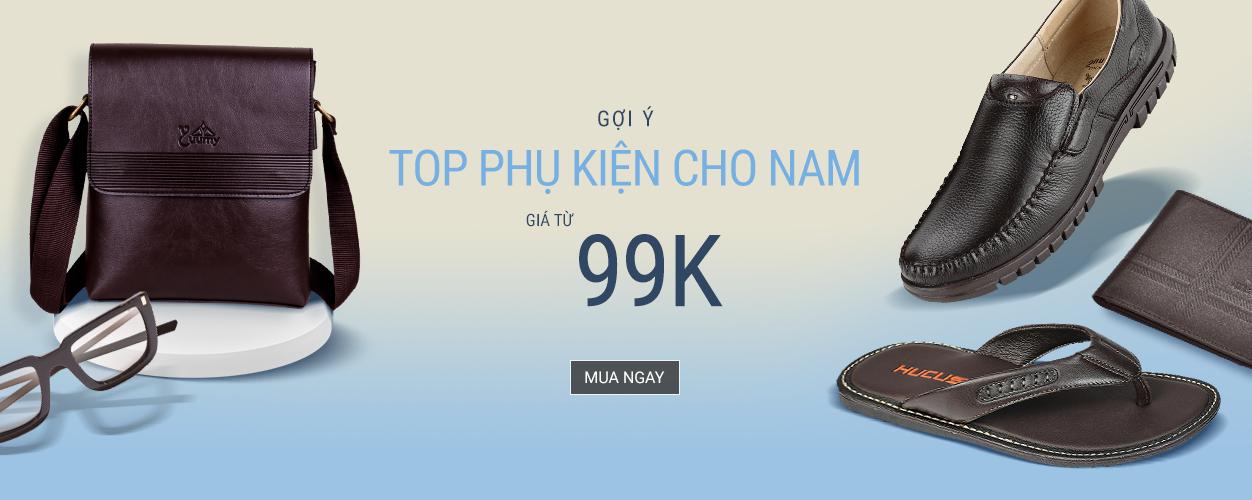 Top phụ kiện cho Nam - Chỉ từ 99K