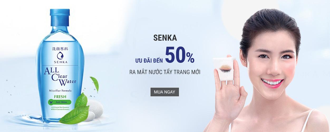 Senka - Ưu đãi hấp dẫn lên tới 50%