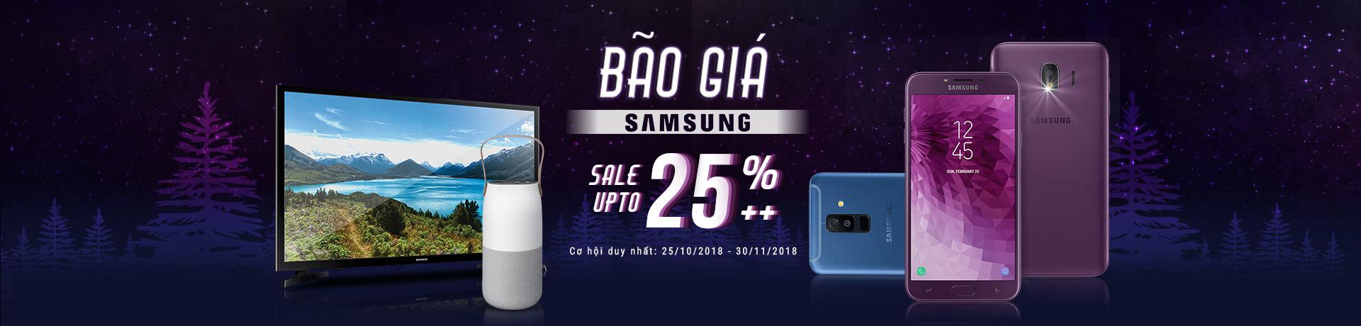 Bão giá Samsung - Giảm thêm 25%