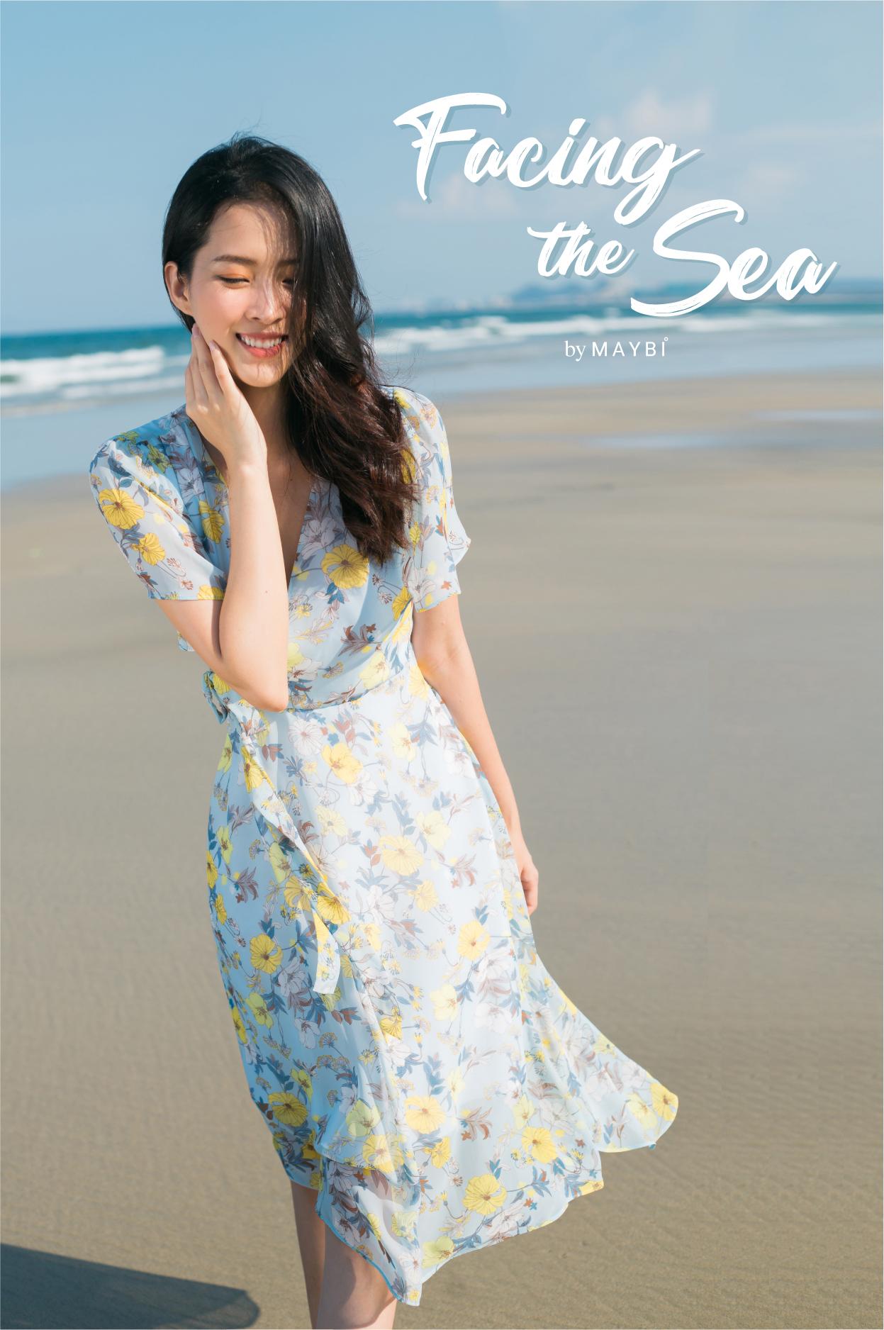 Khuyến mãi Đầm hoa xanh cánh tiên – Grandy Floral Dress