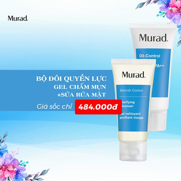 Gel giảm mụn + Gel rửa mặt cho da dầu mụn Clarifying Cleanser (45ml) trợ giá 50%