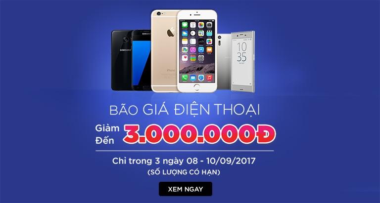 Bão giá điện thoại - Giảm đến 3.000.000Đ