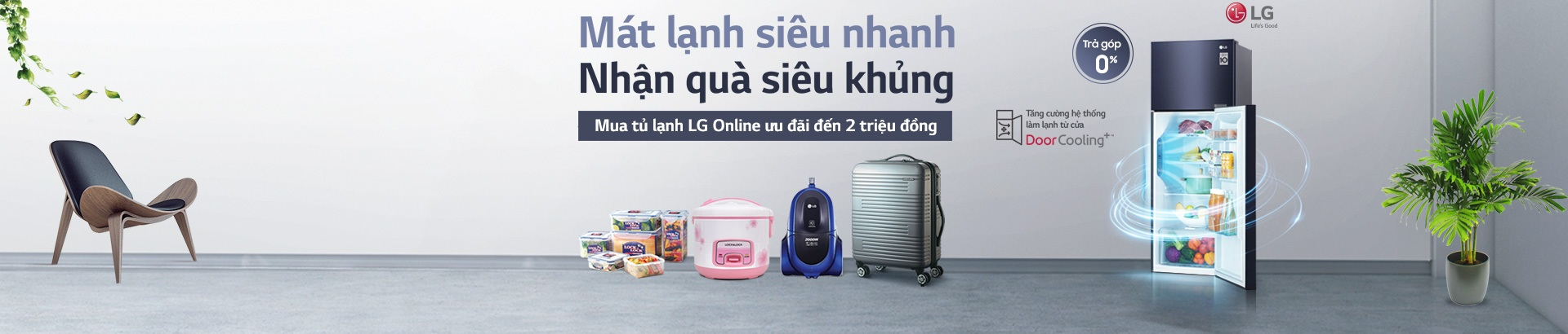 Mua Tủ lạnh LG - Nhận quà siêu khủng
