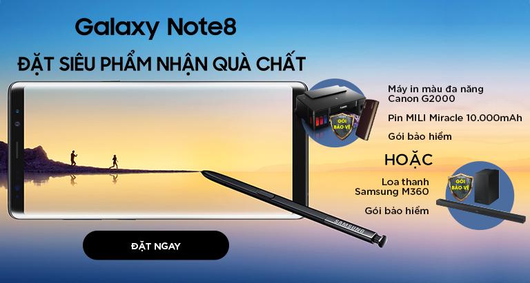Đặt trước siêu phẩm Galaxy Note 8 - Nhận ngay quà chất