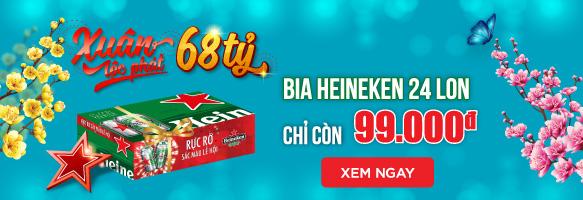 BIA HEINEKEN 24 LON CHỈ CÒN 99K