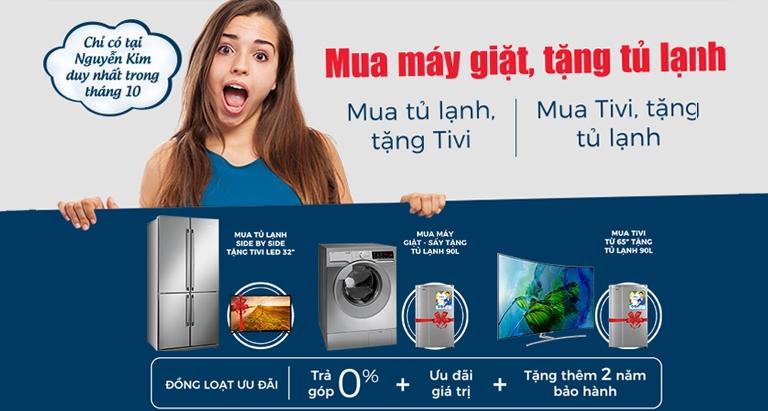 Mua máy giặt - Tặng tủ lạnh