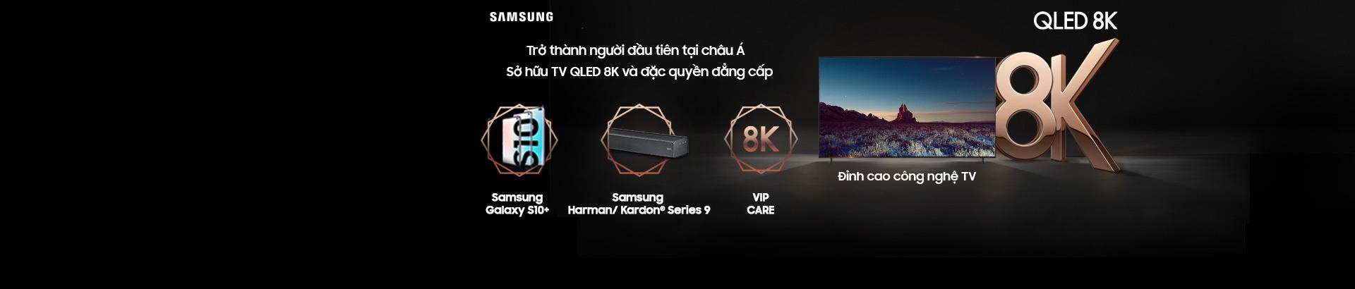 Tivi Samsung QLED 8K - Nhận ngay khuyến mãi hấp dẫn