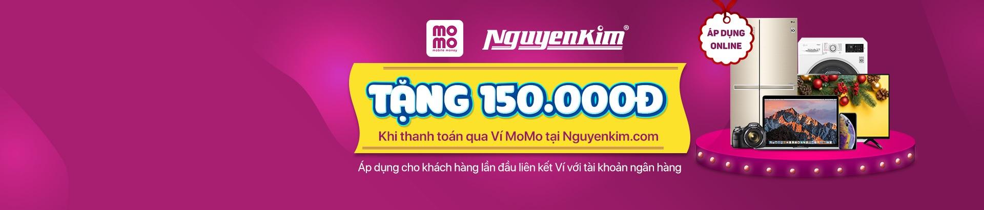Tặng ngay 150K khi thanh toán qua Ví Momo