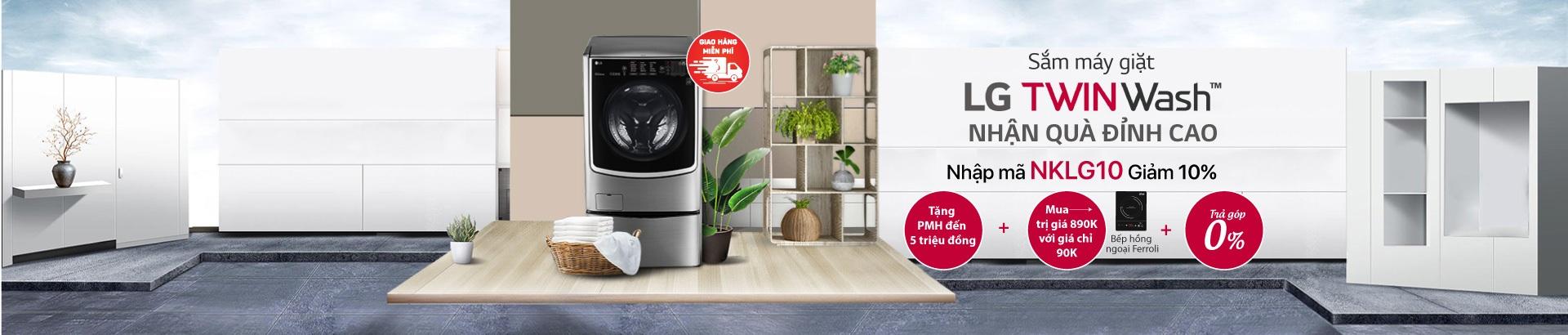 Sắm máy giặt LG TWIN WASH - Nhận quà đỉnh cao