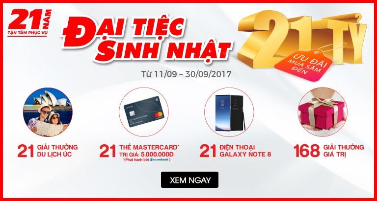 Đại tiệc sinh nhật Nguyễn Kim - Ưu đãi mua sắm đến 21 tỷ