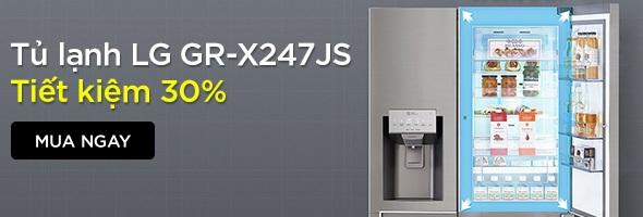 TỦ LẠNH LG INVERTER 601 LÍT GR-X247JS - TIẾT KIỆM 30%