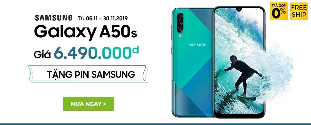 Samsung Galaxy A50S đen 64GB - Tặng Pin Samsung 10.000mAh