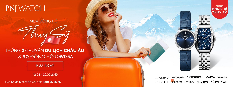 Mua đồng hồ Thụy Sỹ - Trúng chuyến du lịch Châu  u