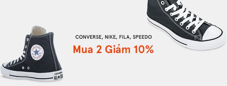 Giày thể thảo Converse, Nike, Fila, Speedo - Mua 2 giảm 10%