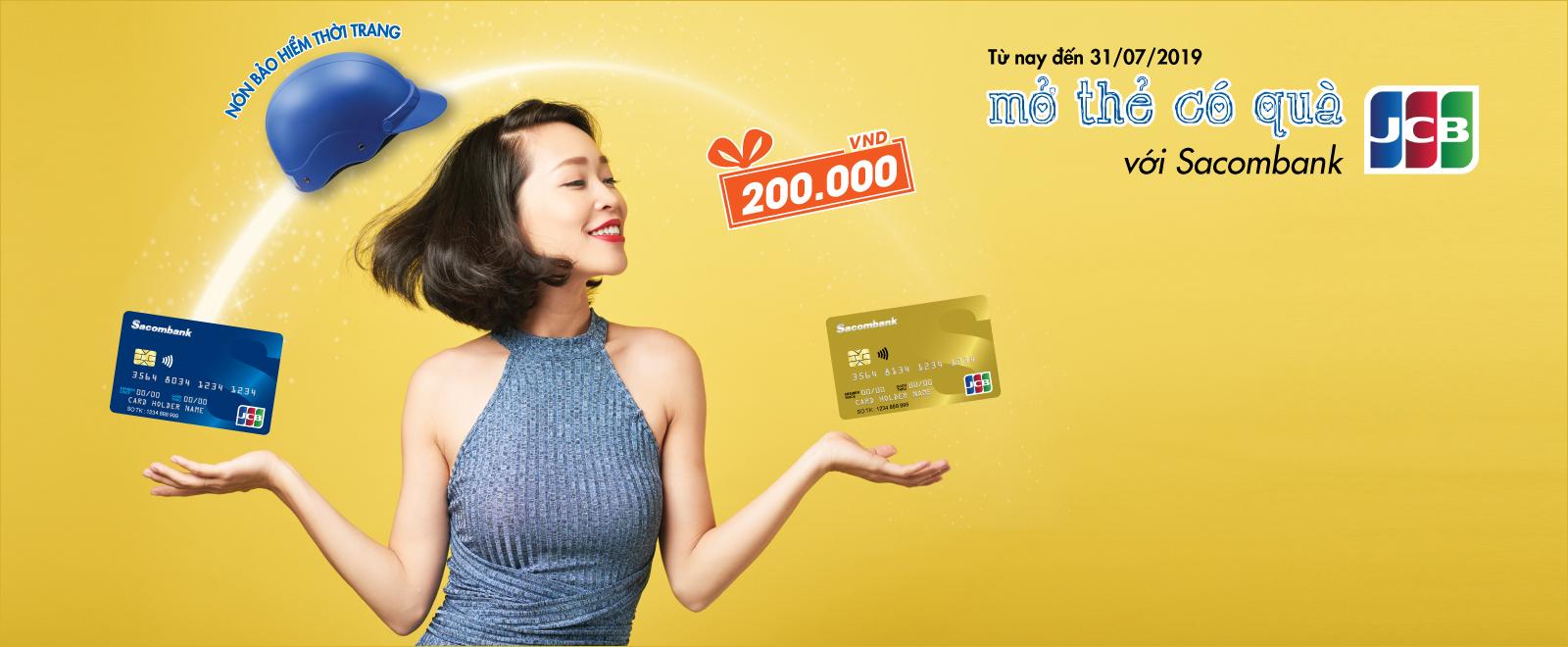 Sacombank: Mở thẻ là có quà