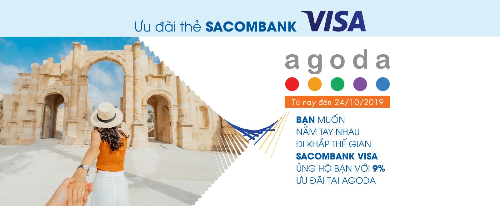Sacombak Visa ủng hộ bạn với 9% ưu đãi tại Agoda