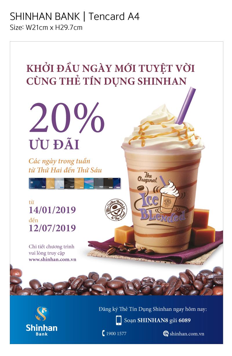Ưu đãi 20% cho sản phẩm The Coffee Bean