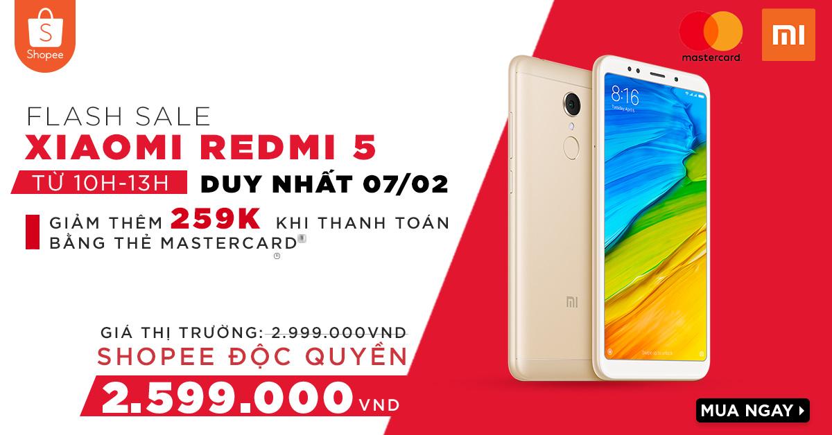 Xiaomi Redmi 5 CHÍNH HÃNG với mức giá RẺ VÔ ĐỊCH