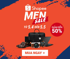Shopee Men Sale - giảm đến 50%