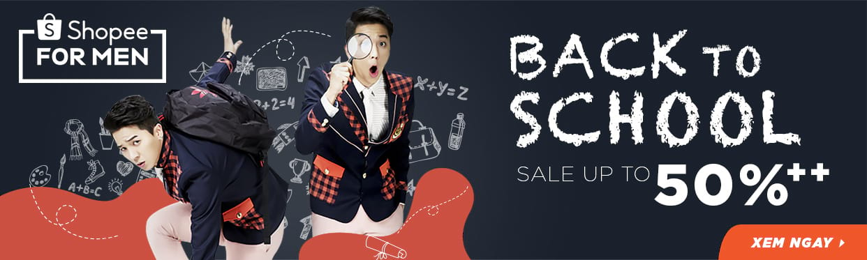 BACK TO SCHOOL - THỜI TRANG NAM SALE OFF 50%